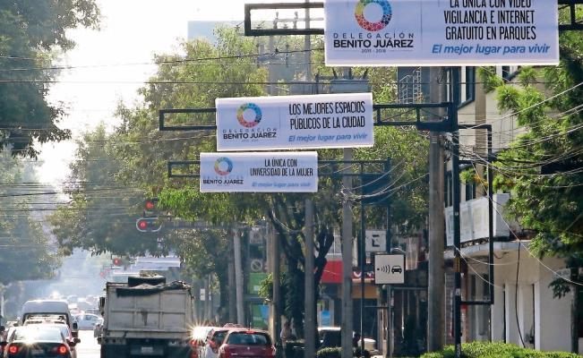 En plena veda electoral, la delegación Benito Juárez promociona sus acciones de Gobierno