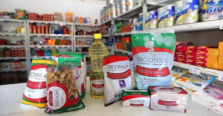 Diconsa ofrece 9 productos marca propia en más de 27,000 tiendas comunitarias y 300 móviles