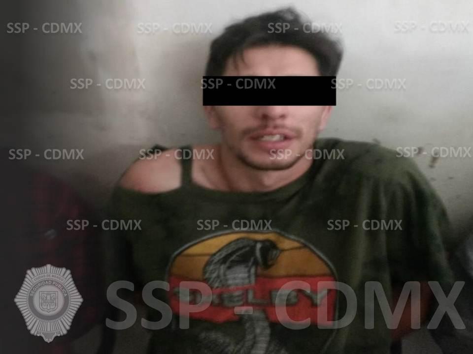 SSP-CDMX DETIENE A UN HOMBRE RELACIONADO AL DELITO DE ROBO DE MERCANCÍA