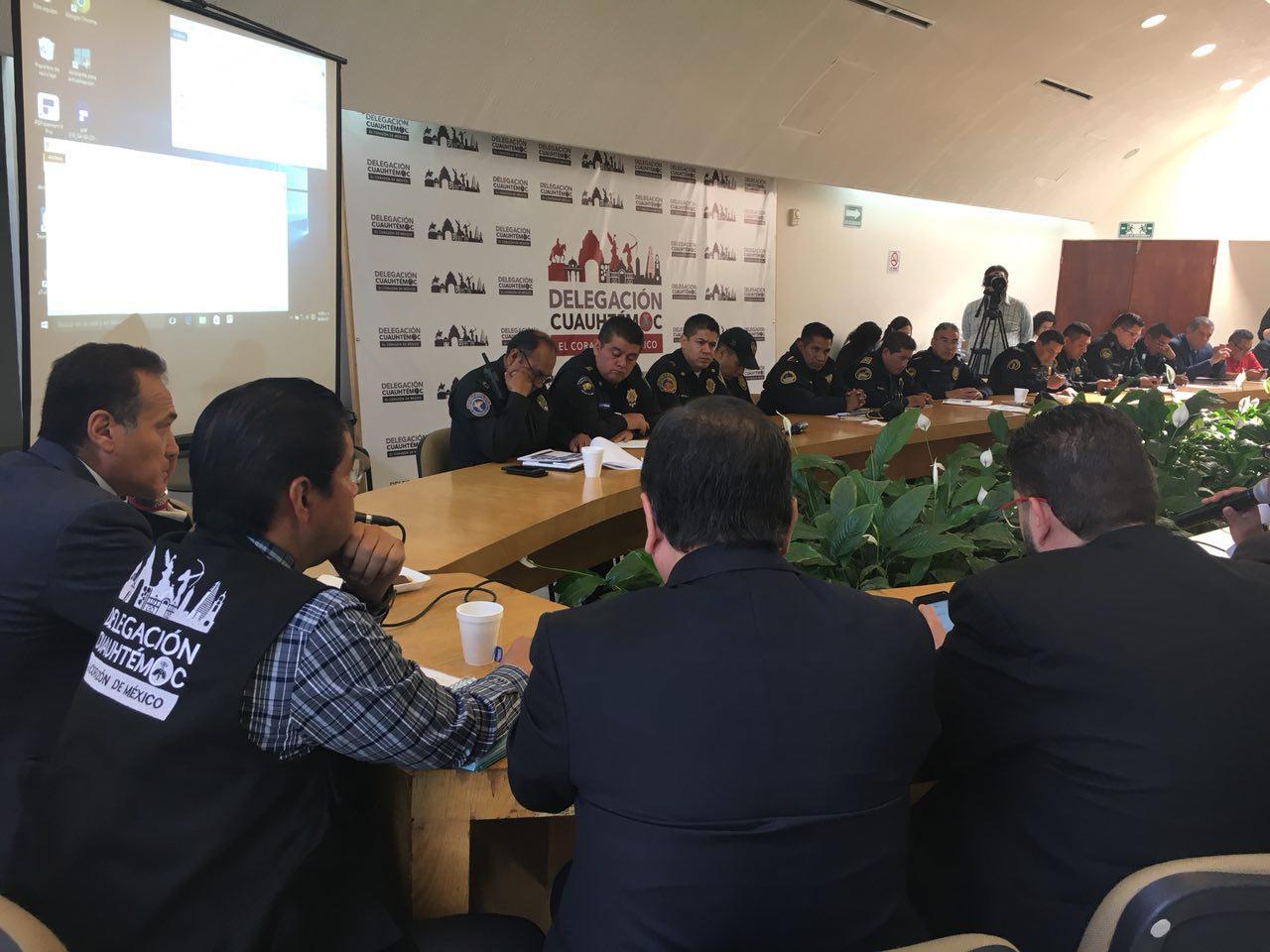 INFORMAN EN CUAUHTÉMOC SOBRE ACCIONES VINCULADAS CON EL GOBIERNO DE LA CDMX EN SEGURIDAD