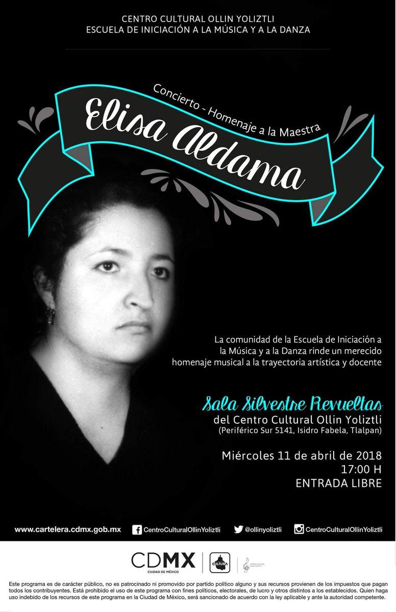 Rendirán homenaje a la maestra Elisa Aldama en el Centro Cultural Ollin Yoliztli