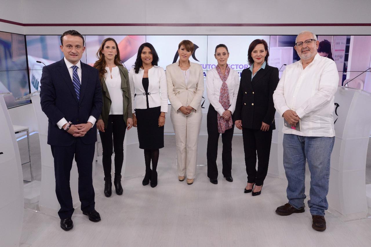 En ejercicio democrático, debaten aspirantes a Jefatura de Gobierno de la CDMX