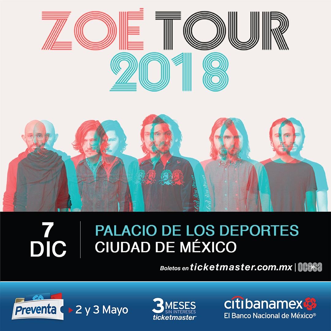 Tras abarrotar sus tres shows en el Auditorio Nacional, Zoé anuncia un nuevo concierto en la CDMX