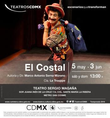 El costal, espectáculo de La Trouppe, se presenta en el Teatro Sergio Magaña