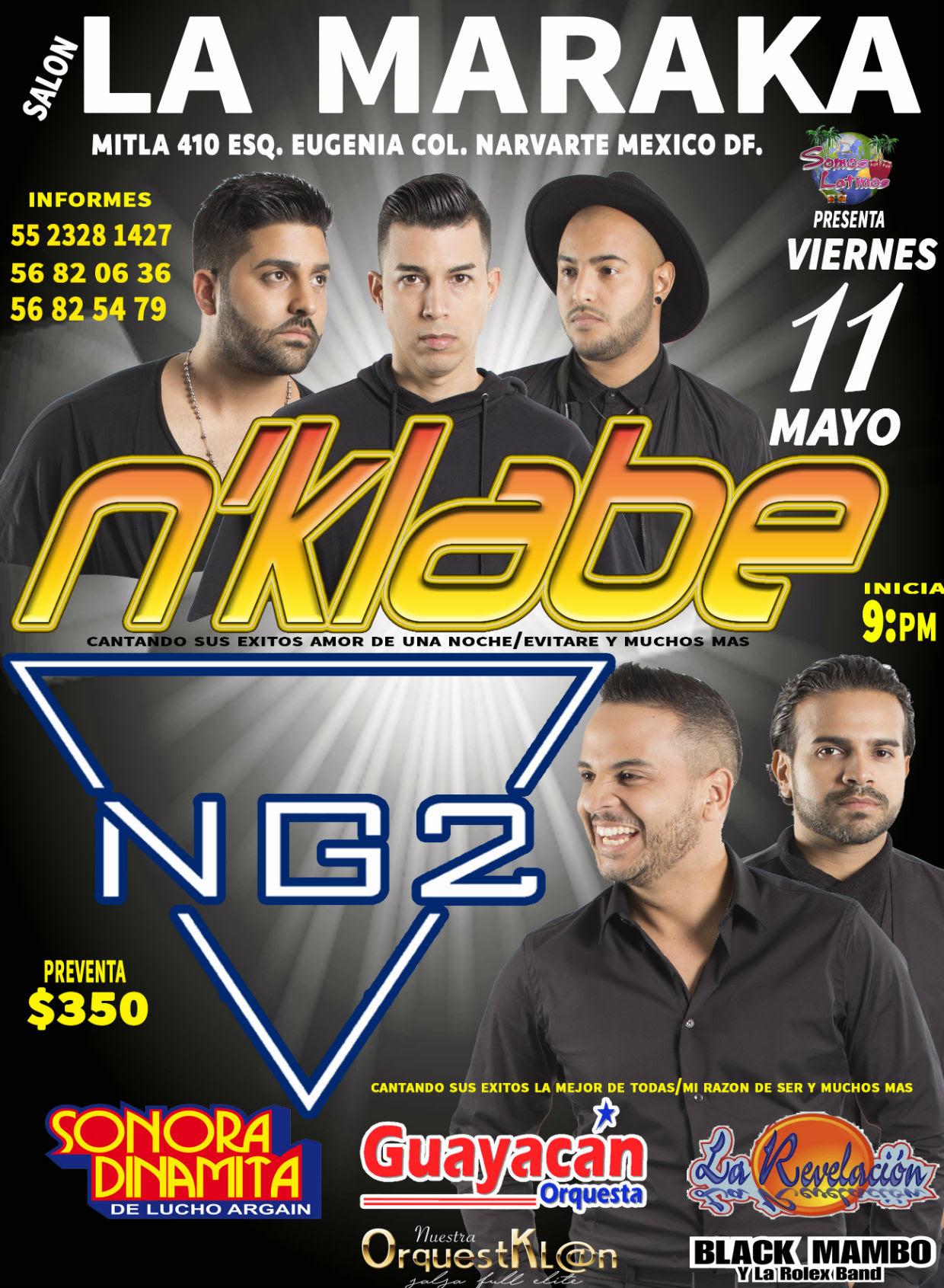 La Sonora Dinamita compartirá escenario con los nominados al Billboard: N KLABE y NG2 en su Salsamania World Tour