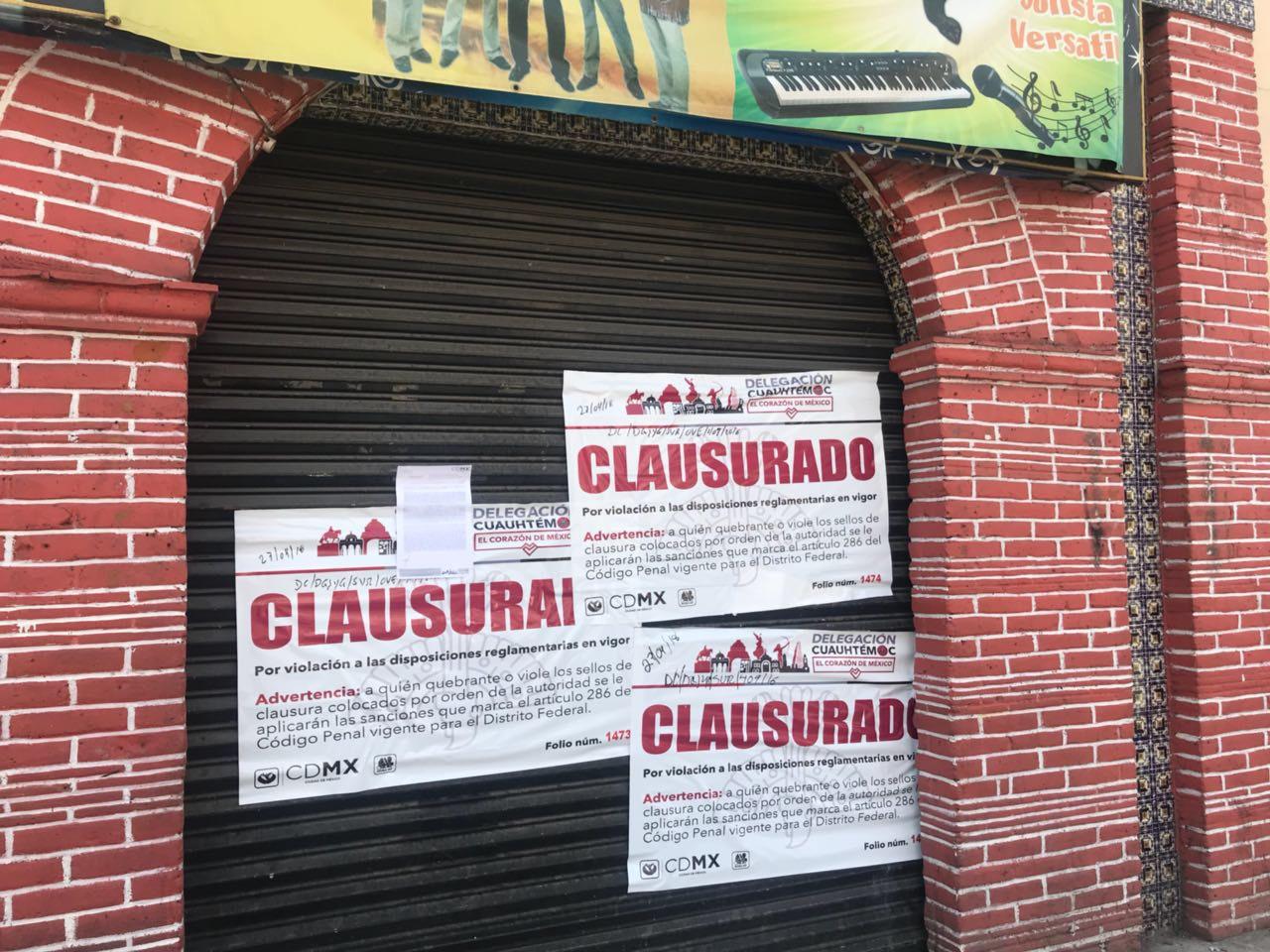 REALIZAN 11 CLAUSURAS EN OPERATIVO PARA VERIFICAR FUNCIONAMIENTO DE ESTABLECIMIENTOS MERCANTILES