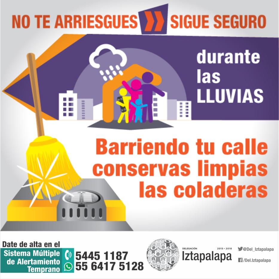 PRESENTA IZTAPALAPA ACCIONES DE PREVENCIÓN PARA LA TEMPORADA DE LLUVIAS CON LA APLICACIÓN DEL SMAT