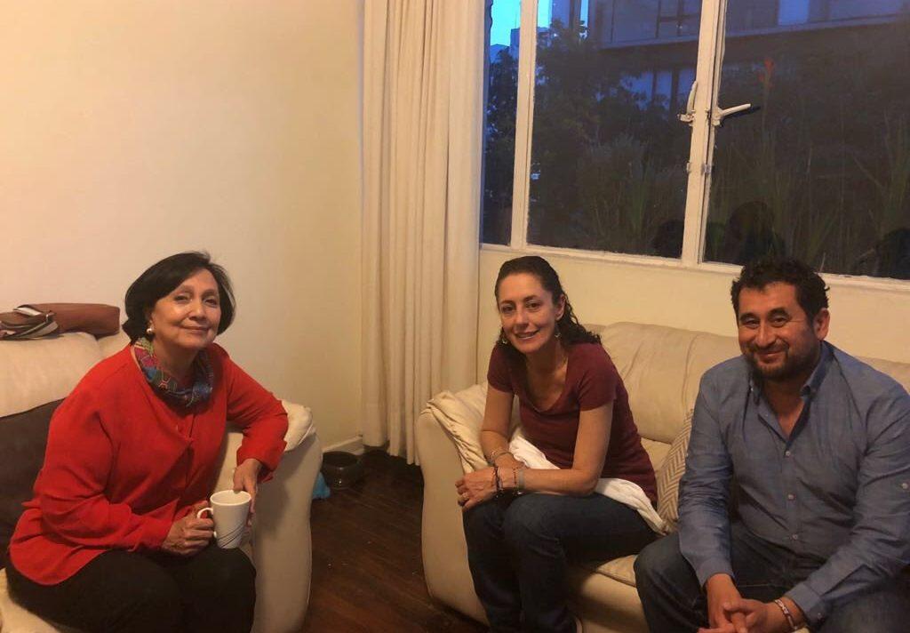 Se reúne Sheinbaum con Amalia García