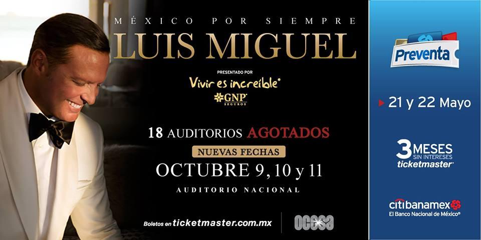 Luis Miguel, Auditorio Nacional