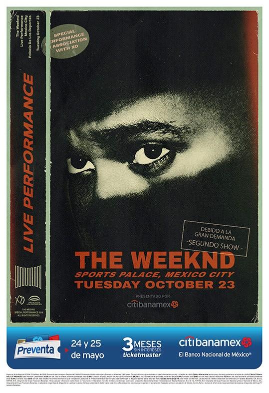 The Weeknd anuncia segundo concierto en México