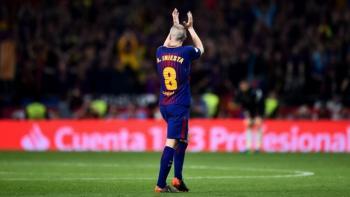 Se despide Andrés Iniesta con el Barcelona