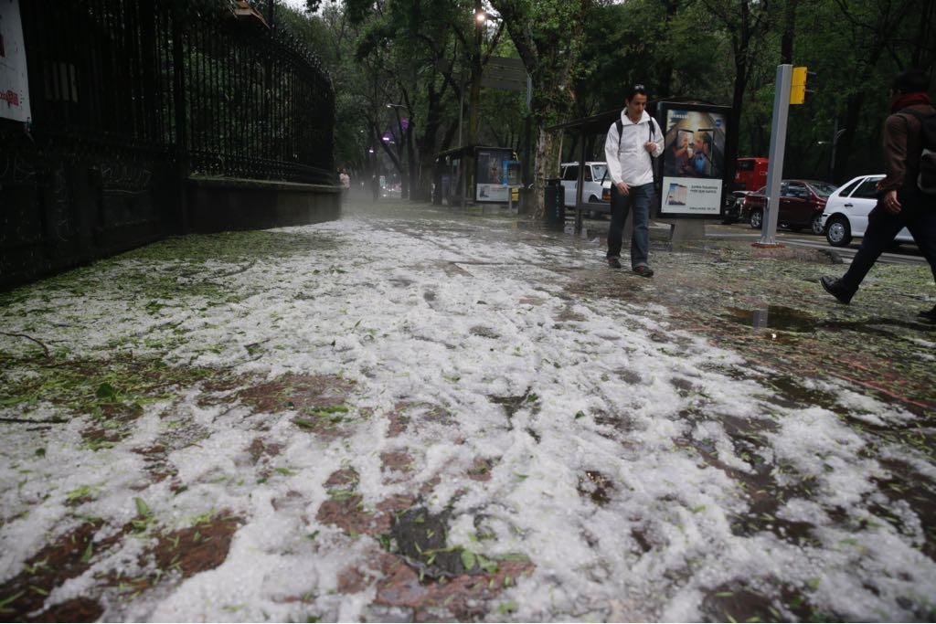 Cuadrillas del GCDMX atienden 44 incidencias por lluvia y granizo
