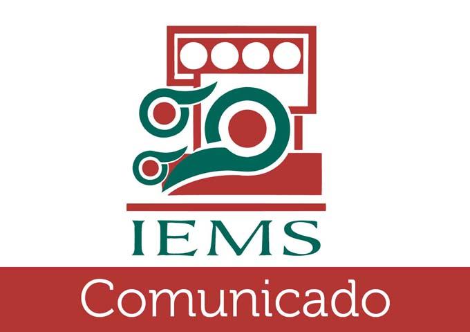 Emite IEMS Convocatoria de Ingreso para ciclo escolar 2018-2019