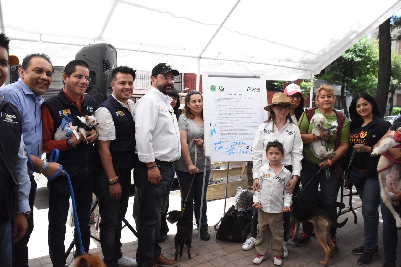FIRMA MAGUI FISHER AGENDA ANIMALISTA PARA MIGUEL HIDALGO