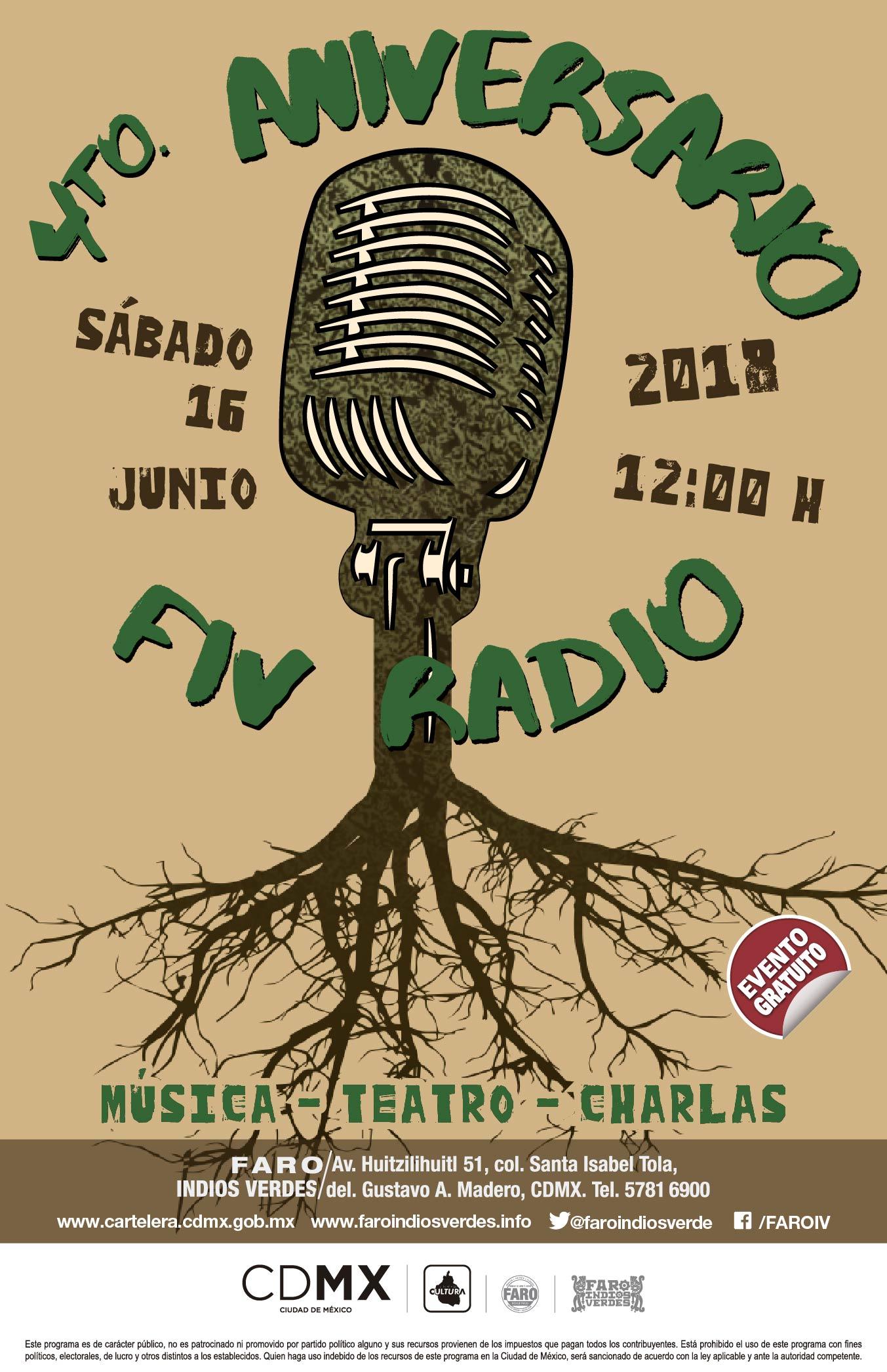 La radio comunitaria de FARO Indios Verdes celebra 4 años de transmisiones
