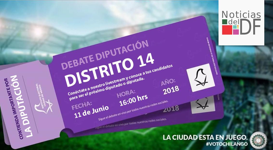 NO TE PIERDAS EL DEBATE DE LOS CANDIDATOS A LA DIPUTACIÓN DEL DISTRITO 14