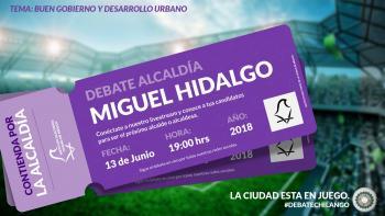 NO TE PIERDAS EL SEGUNDO DEBATE DE LOS CANDIDATOS A LA ALCALDÍA DE MIGUEL HIDALGO
