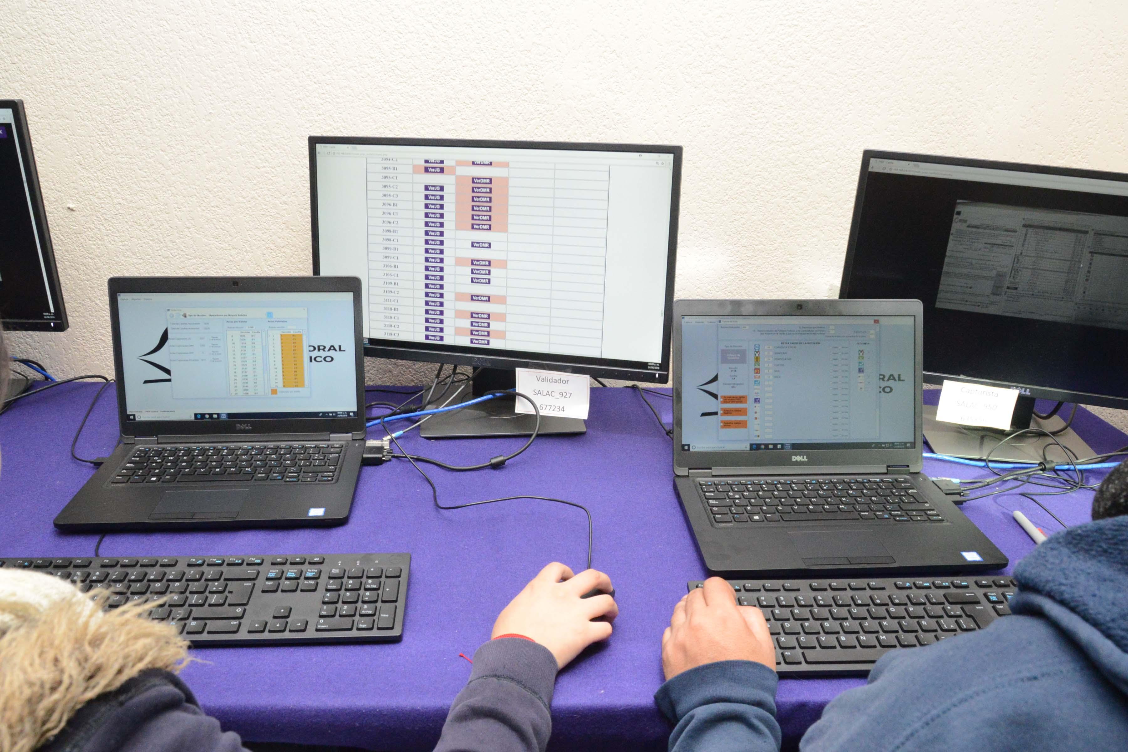 Realiza IECM tercer simulacro para verificar buen funcionamiento de sistema informático, conteos rápidos y PREP