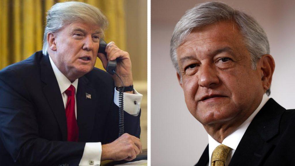 AMLO habla por teléfono con Trump