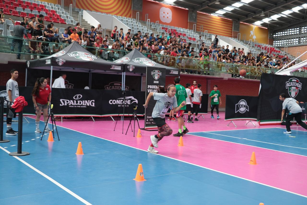 Más de 600 aspirantes se dieron cita en la CDMX para el último selectivo de Academia CONADE Básquetbol