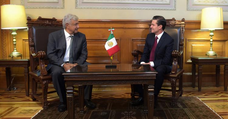 El Presidente Enrique Peña Nieto se reunió con el virtual Presidente Electo, Andrés Manuel López Obrador