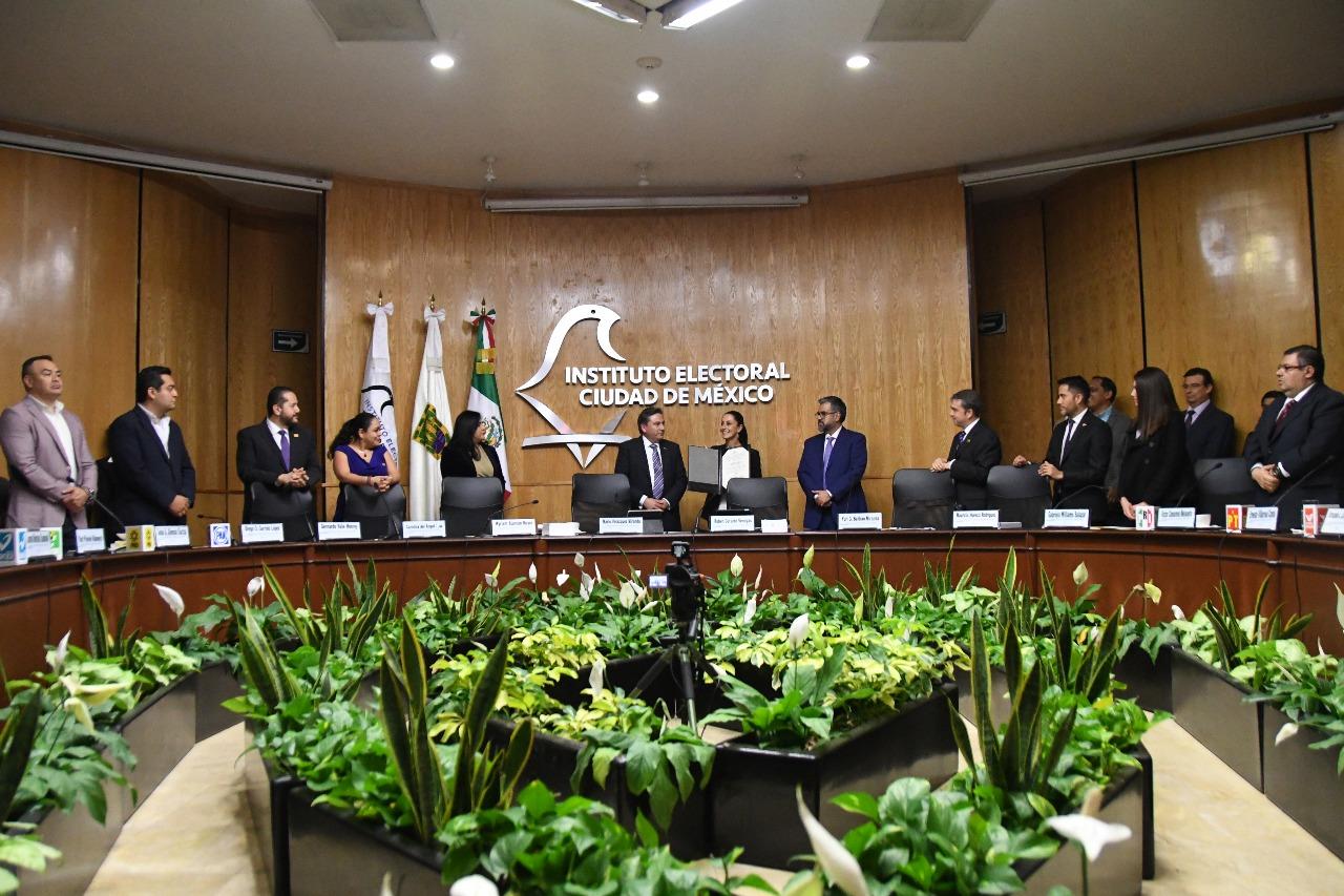 Otorga IECM Constancia de Mayoría a Jefa de Gobierno electa