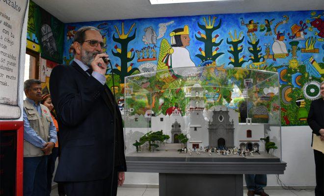 LA BATALLA DE AZCAPOTZALCO EN MAQUETA