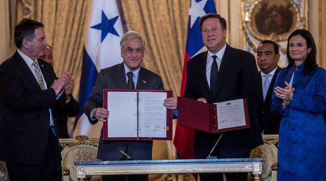 Presidente Piñera y Presidente de Panamá firmaron acuerdos en materias de cooperación aduanera, humanitaria y en cadenas de valor