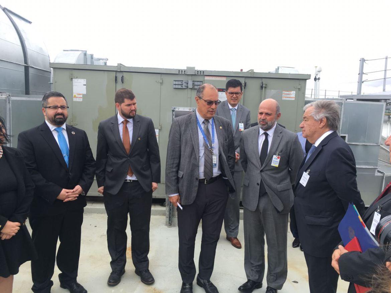 Secretario General de la ONU visita Centro Nacional de Control del Energía del ICE