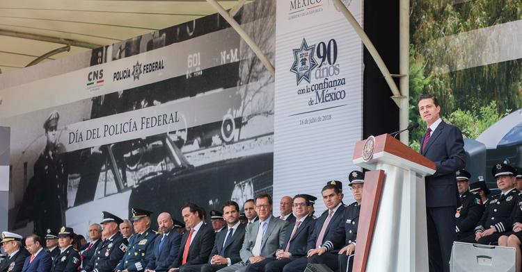 Ceremonia conmemorativa del Día del Policía Federal 2018