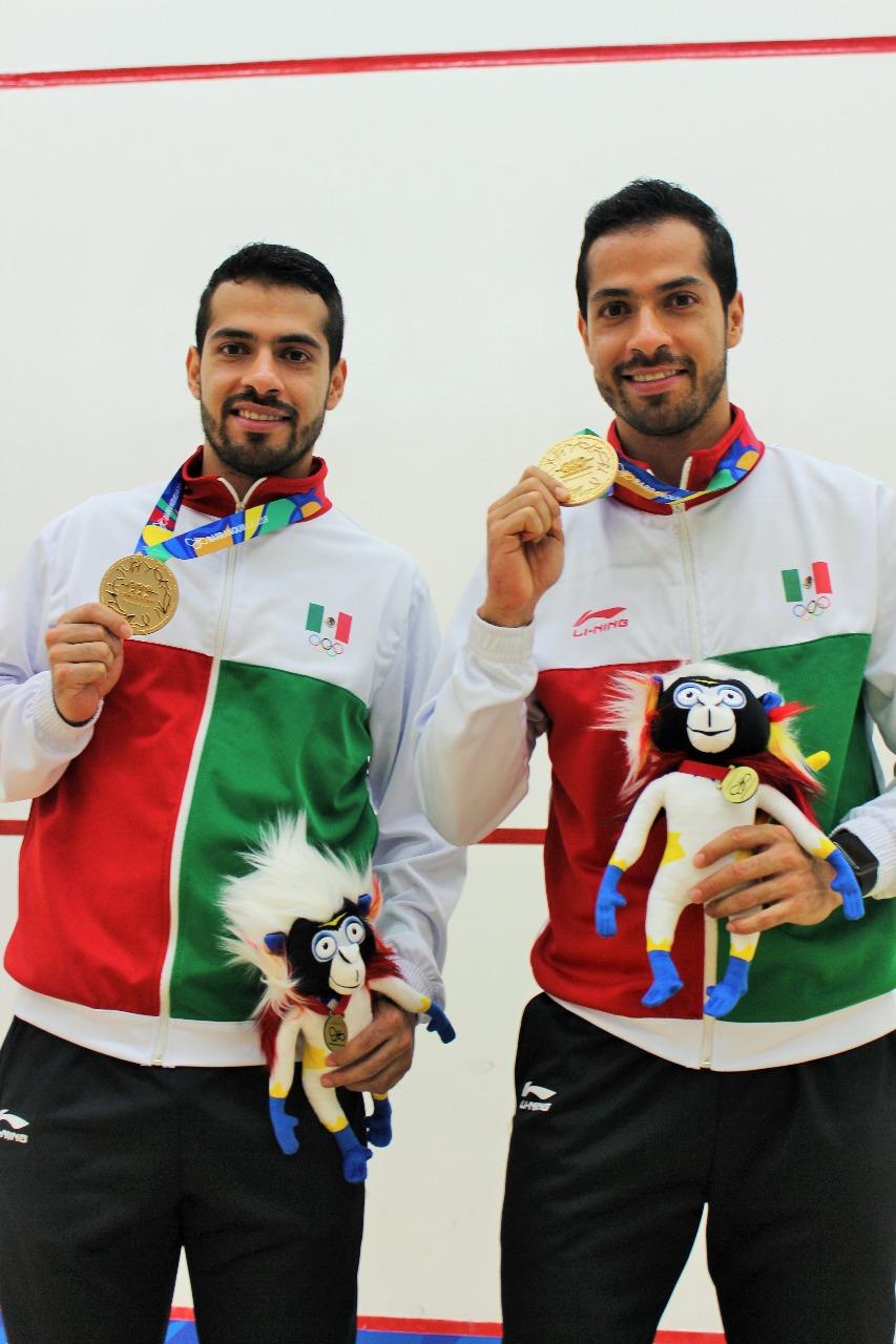 Cosecha México dos oros y una plata en squash de JCC 2018