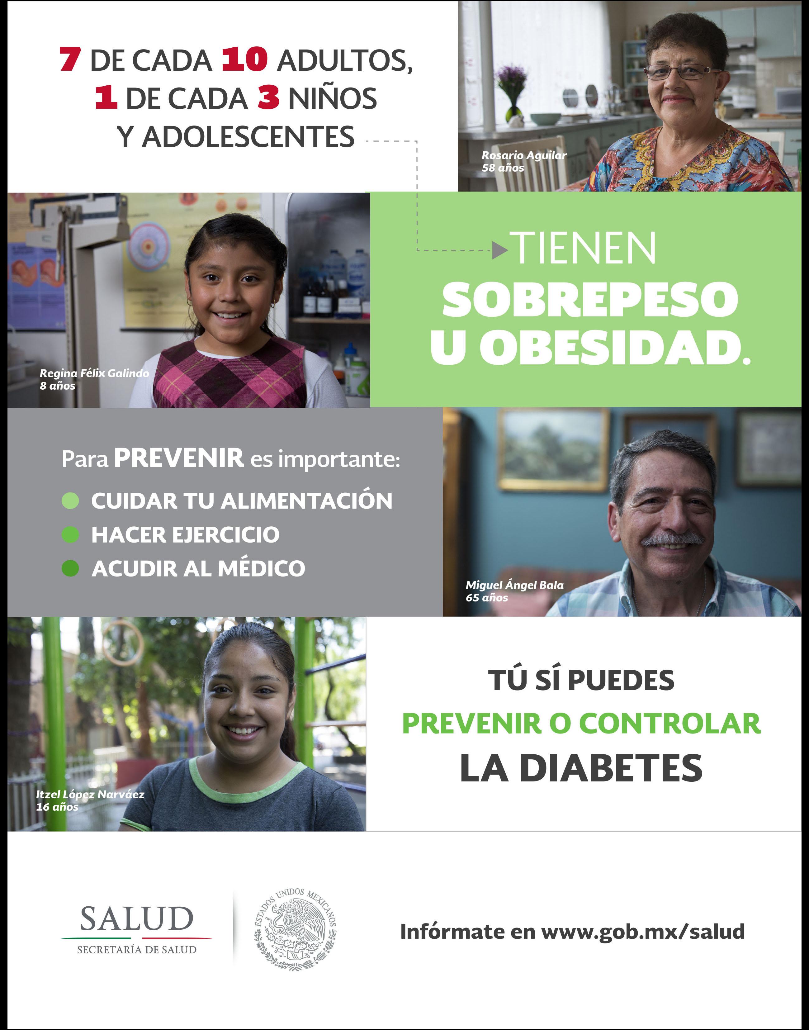 Sobrepeso y obesidad, factores de riesgos para desarrollar diabetes