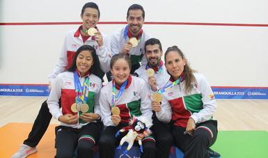 Domina México medallero de squash en JCC2018