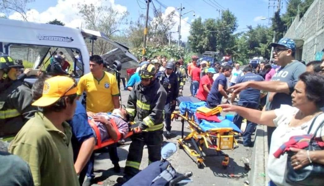 Jefe de Gobierno Capitalino visita a personas lesionadas en accidente