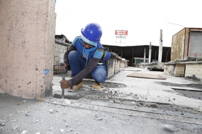 Inician trabajos de reconstrucción del Mercado Hidalgo