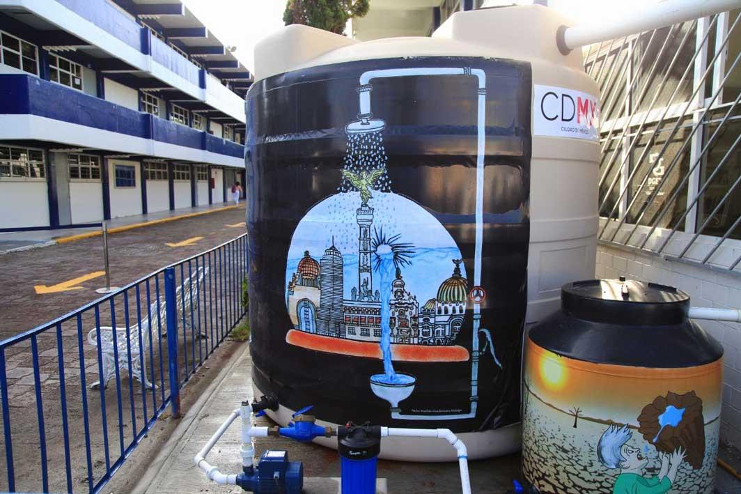 En marcha programa de captación de agua de lluvia en escuelas de la CDMX