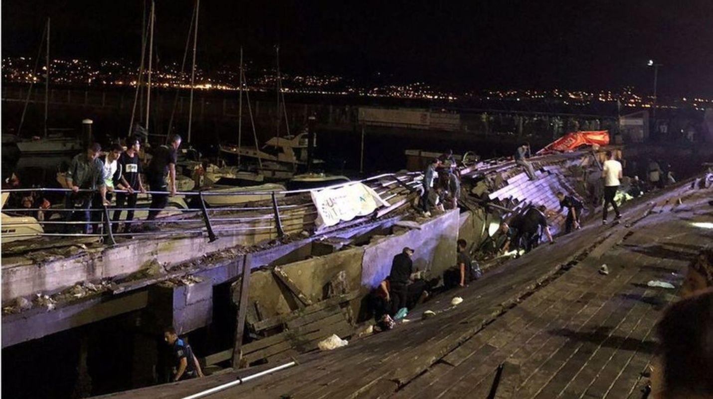En España derrumbe durante concierto deja 300 personas lesionadas