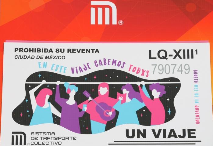 Celebran STC e INJUVE CDMX Día Internacional de la Juventud con boleto conmemorativo