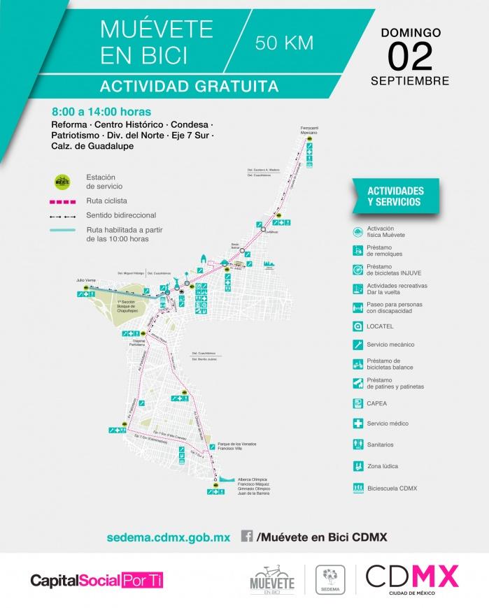 Recortará paseo dominical Muévete en Bici su ruta por gran Fondo MX