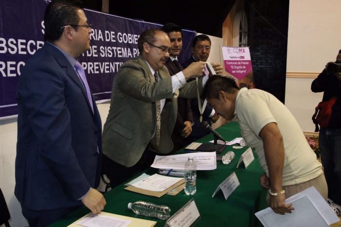 Interno de origen zapoteco gana concurso de poesía organizado por SEDEREC y Sistema Penitenciario