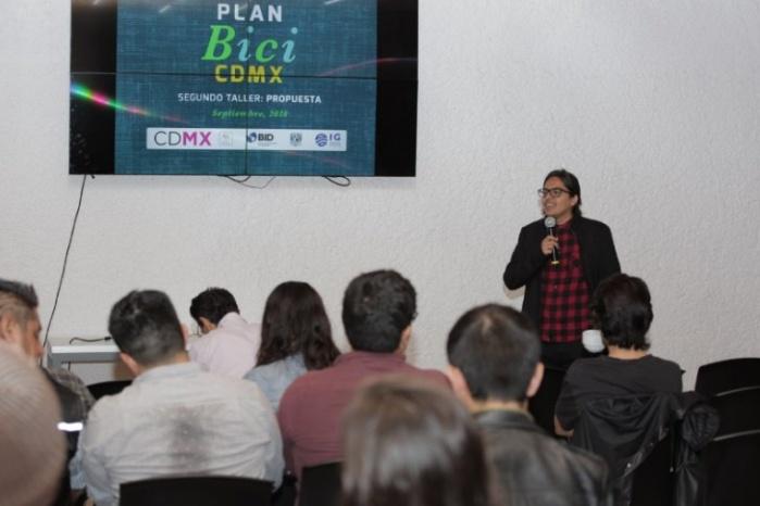 Realiza GCDMX segundo taller para la elaboración del plan Bici CDMX