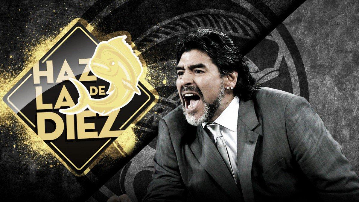 Maradona llega a México como técnico de Dorados