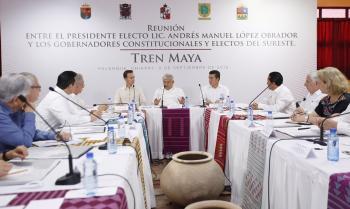 Respaldan gobernadores proyecto de Tren Maya