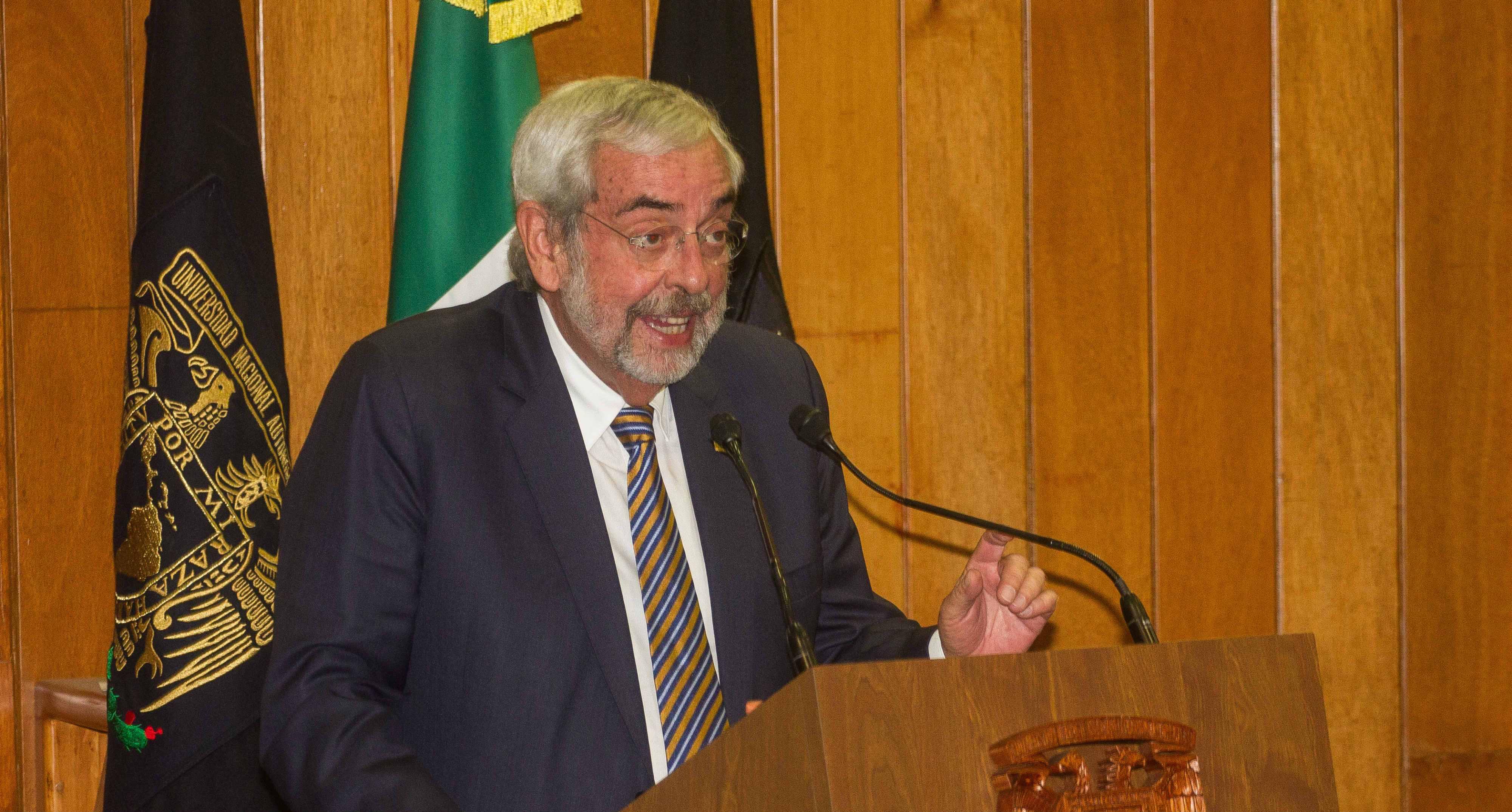 Graue pide justicia para la UNAM