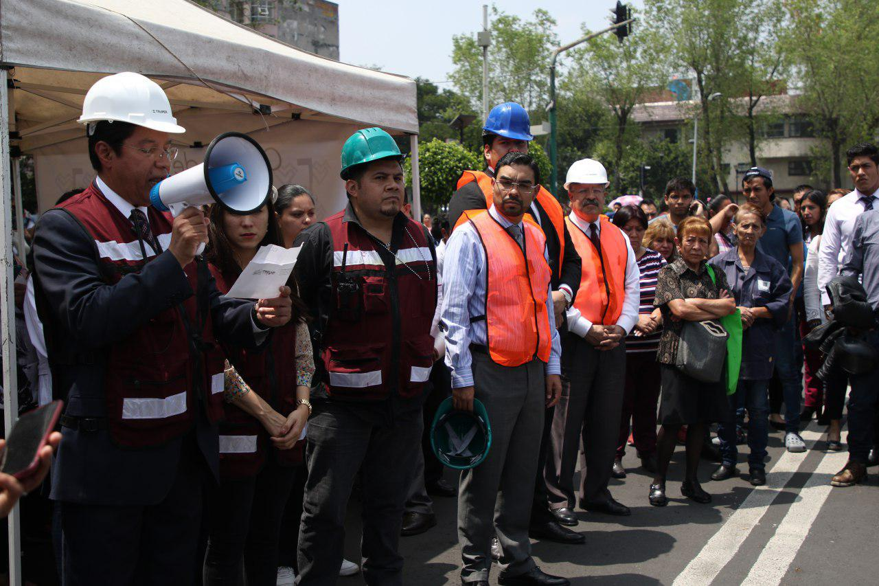 Presentan Protocolo de Actuación del Comité Interno de la Delegación Cuauhtémoc de Atención a Emergencias ante un Sismo