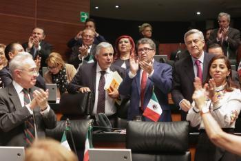 Tras ratificación de convenio sobre libertad sindical, Ricardo Monreal llama a empresarios a no preocuparse