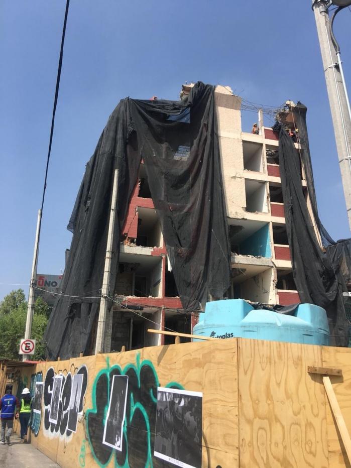 Demuele SOBSE cuatro edificios de forma simultánea tras sismo de 19s