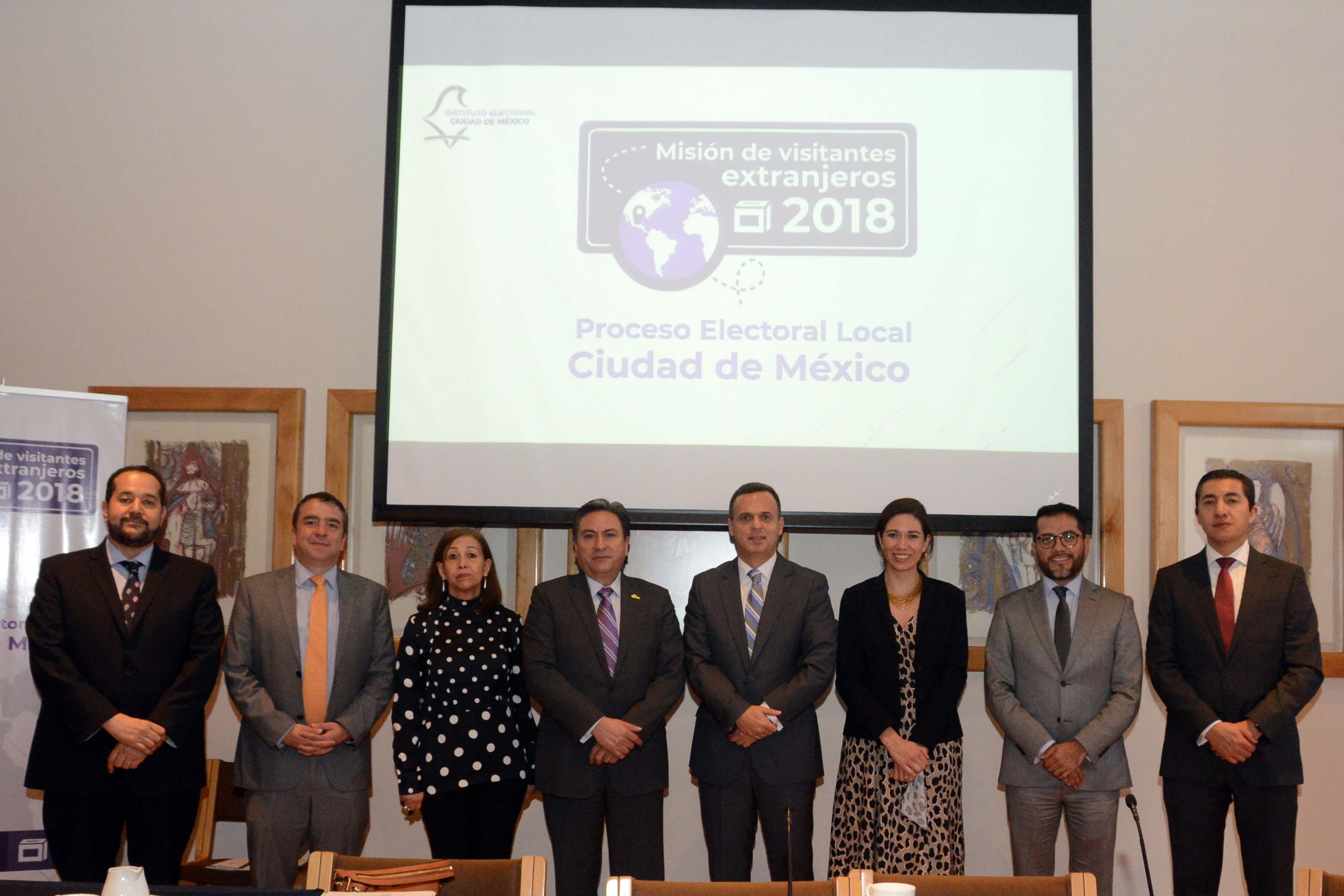 Destacan observadores extranjeros participación ciudadana y labor institucional en Proceso Electoral Ordinario 2017-2018