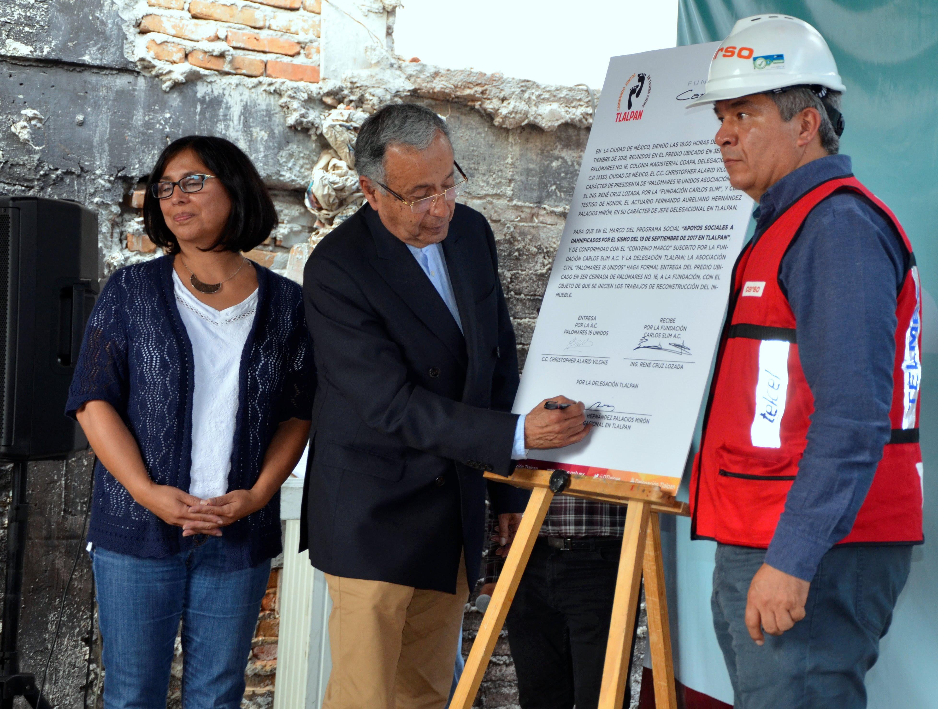 Inicia Tlalpan proceso de reconstrucción del multifamiliar Palomares 16