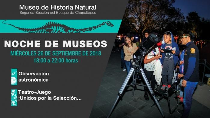 Vuelven las Noches Astronómicas al Museo de Historia Natural